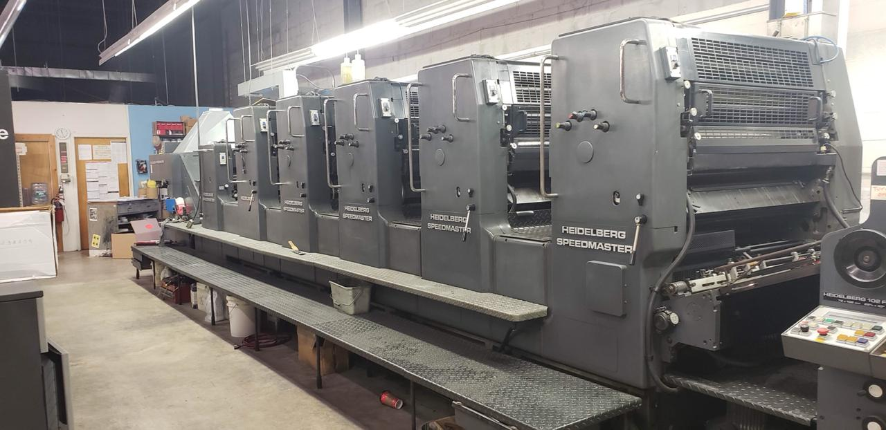1990 HEIDELBERG 102 FIVE PLUS COATER