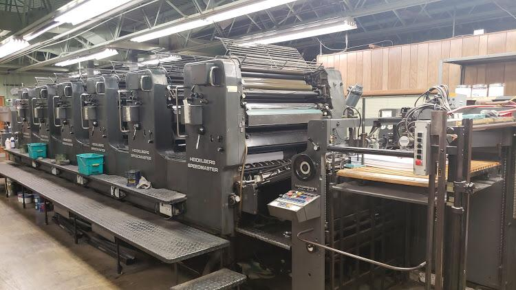 HEIDELBERG SM 102 6 COLOR USA